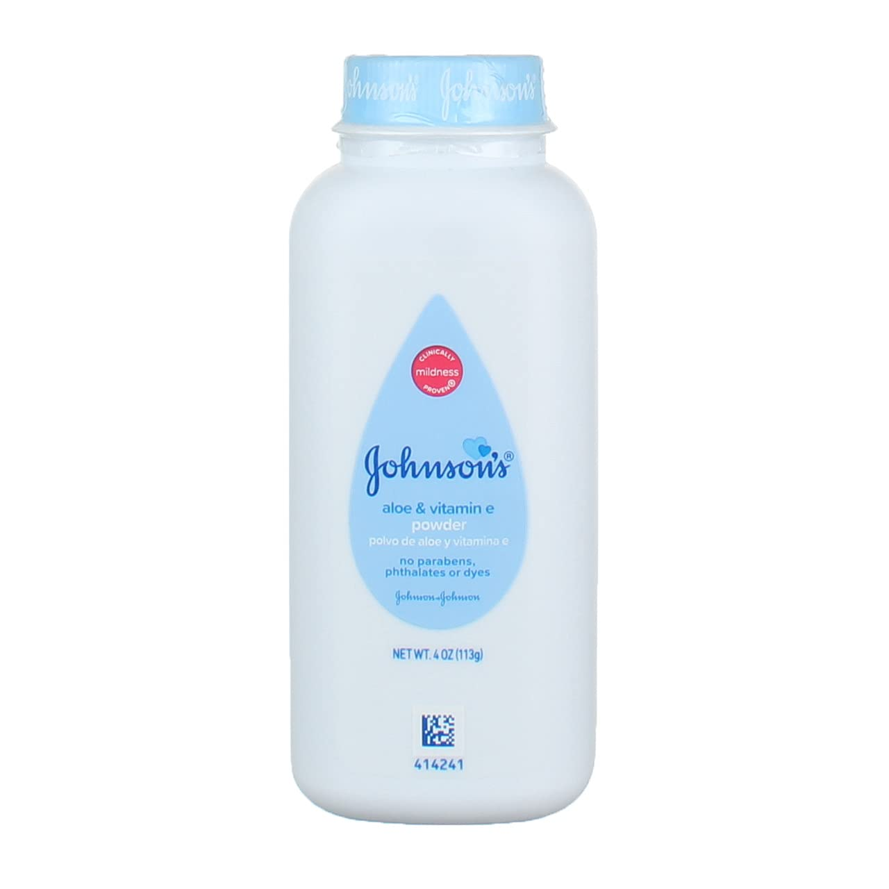 JOHNSON'S Baby Powder, Soothing Aloe & Vitamin E 4 oz (Pack of 2)
