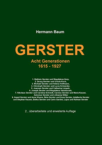Gerster: Acht Generationen 1615 -1927