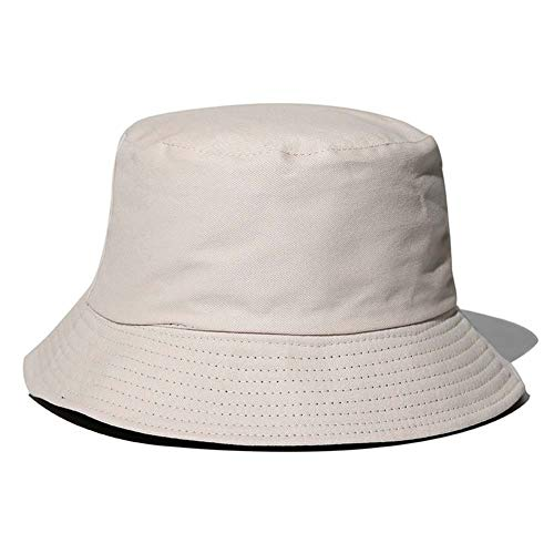 Wide Brim Sun Hat, Foldable Waterproof Bucket Hats Washthe Bucket Hats on a Cool Cycle Windproof for Hiking Camping Traveling Fishing Sun Protection, Warmth, Sun Protection (Color : Light rice)