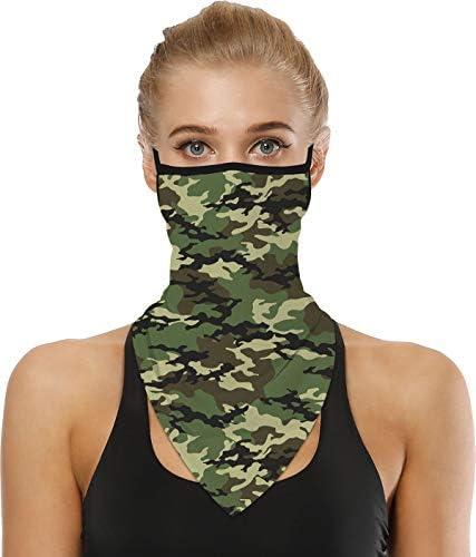 KBH 100 CAM Face Bandana Neck Gaiter Face Scarf Ear Loops Balaclava for Dust Mask Man Woman product image