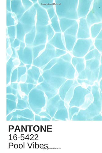 """Pool Vibes Pantone Color Notebook Journal or Notepad Diary: Wide ruled lined 6"""" x 9"""" and 120 white pages"""