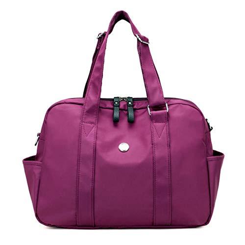 Women s Travel Shoulder Bag Fashion Waterproof Soft Travel Handbag Folding Trip Luggage Travel Duffle Bag Men Business Handbag-Purple