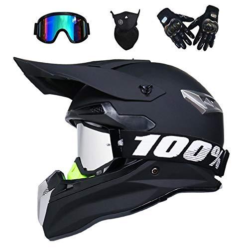 VOMI® Casco de Motocross para Motocicleta, Cascos de Descenso Hombre Enduro Quad...