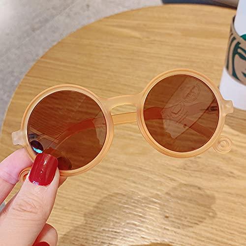 Gafas De Sol Forma De Leopardo Moda Gafas De Sol Redondas Niños Niñas Gafas De Sol Vintage Protección UV Gafas Clásicas Naranja