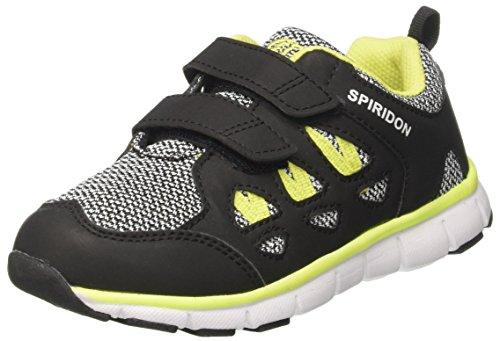 Brütting Unisex-Kinder Spiridon FIT V Sneaker, Schwarz (Schwarz/Grau/Lemon), 32 EU