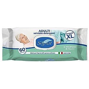 Soffice Salviette Detergenti XL per Anziani e Persone Allettate con Tappo 1 confezione x 60 salviette – 430 g