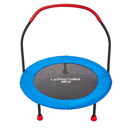 WXL Cama elástica de 36 pulgadas para niños con barandilla y cubierta acolchada de seguridad, carga máxima de 350 libras para interior/exterior