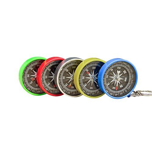 Zhi Jin Lot de 8 boussoles de poche en plastique Pour Chasse Camping Randonnée 45 mm