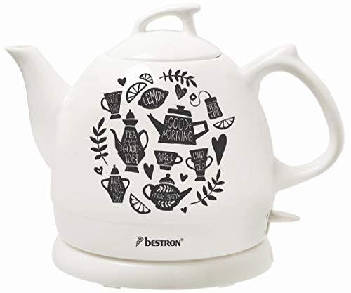 Bestron DTP800TP Hervidor de Agua Retro, Diseño: Tea Party, 1800...