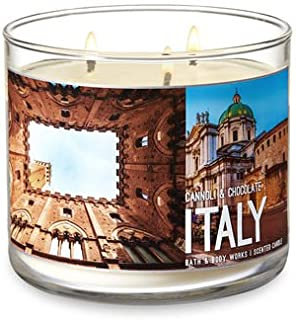 Bath & Body Works 3 Wick Scented Candle- Cannoli & Chocolate – ITALY - 14.5 Ounce
