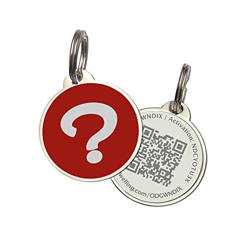 PetDwelling Advanced Red Wisdom Why QR Code Pet ID Tag Links to Online Profile/Emergency Contact/Medical Info/Google Map Location Stamp