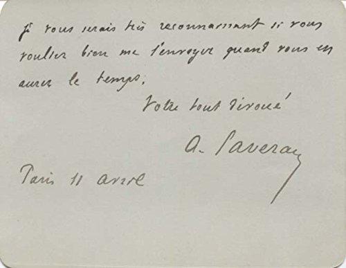 Charles Louis Alphonse Laveran original Autogramm/Autograph/signiert