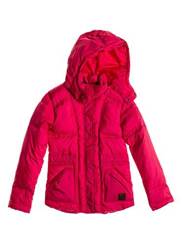 Roxy Jacke Contagious - Cortavientos para niña, color rosa roja, talla 14/ XL