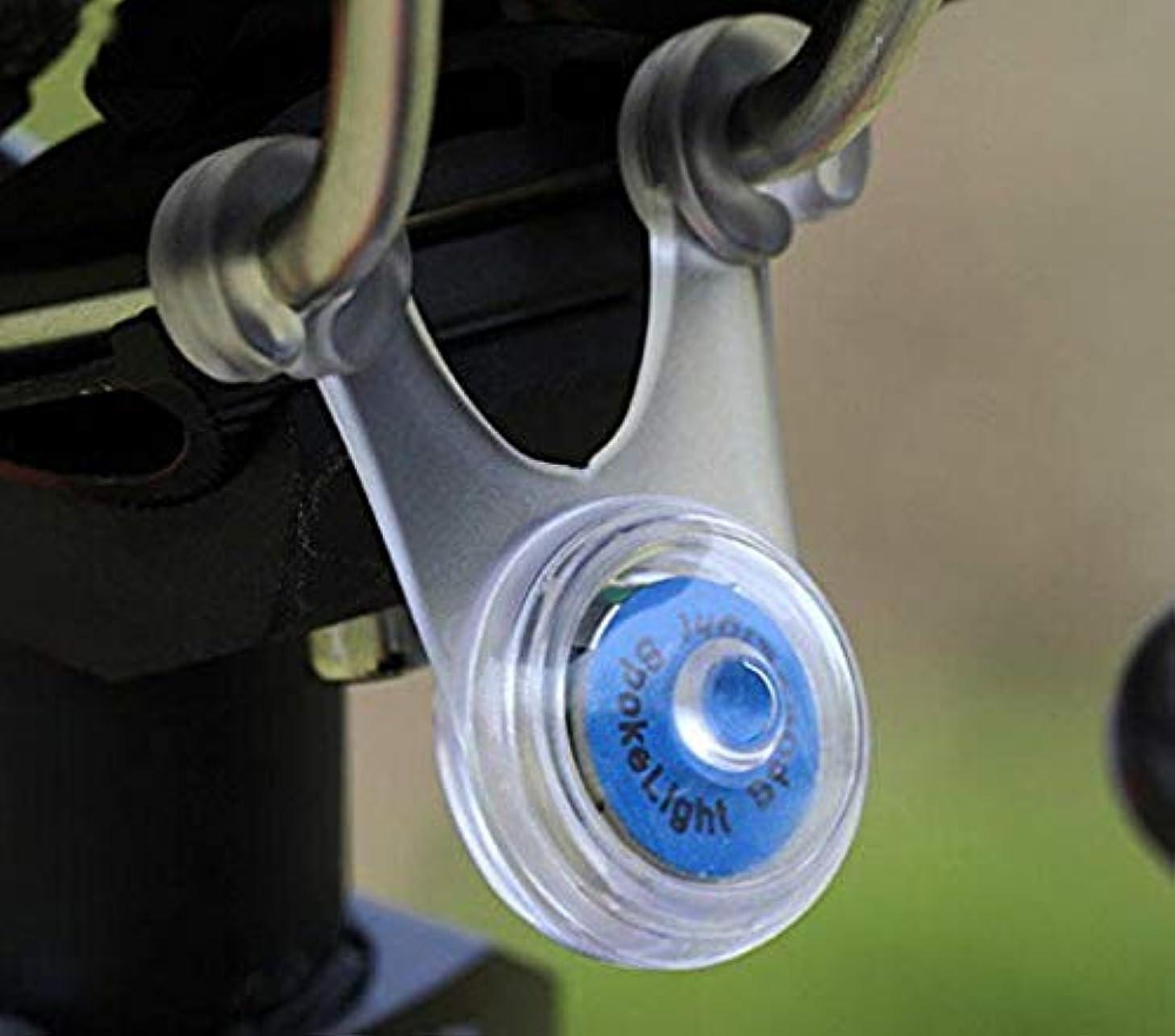 敬な刈る刈るスポーク LED ライト 自転車 サイクル 用 ぶら下げ 式 防水 シリコン テール ランプ 早 点滅 遅 点滅 点灯 の 3 パターン クリーニング クロス セット (3. ブルー 青)