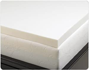 Queen Size 3 Inch Thick, 4 Pound Density Visco Elastic Memory Foam