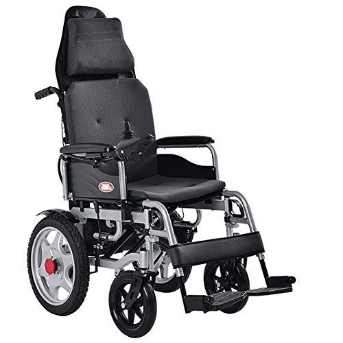 GJJSZ Batteria al Litio per Scooter per disabili elettrica leggera pieghevole automatica intelligente per sedia a rotelle elettrica portatile più servizi igienici