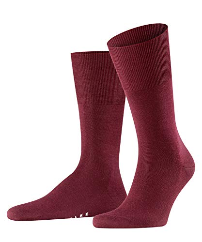 FALKE Herren Airport M SO Socken, Blickdicht, Rot (Barolo 8596), 43-44 (1er Pack)