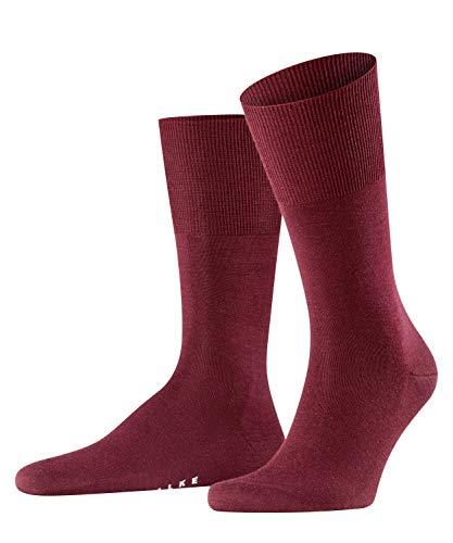 FALKE Herren Socken Airport - Merinowoll-/Baumwollmischung, 1 Paar, Rot (Barolo 8596), 43-44