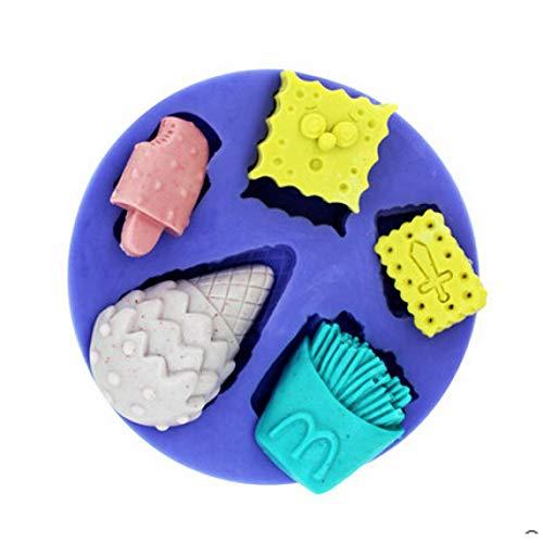 NovForth Neue Heiße Sponge Bob EIS Cracker Und Chips Schokolade SilikonformFondant Kuchen Dekoration Form Schokoladenform