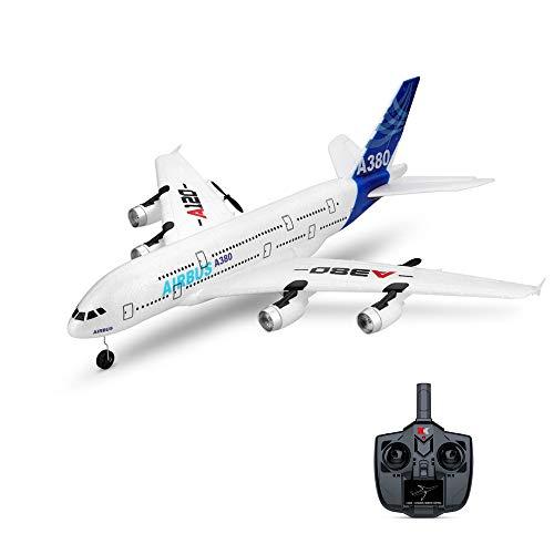 ETbotu Vliegtuig RC,A120-A380 Airbus 510 mm spanwijdte 2,4 GHz 3CH RC Airplane met vaste vleugel met 2 afstandsbedieningen trappen vliegtuig