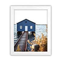Golden State Art, White Photo Wood Collage Frame with Real Glass (8x10) [並行輸入品]