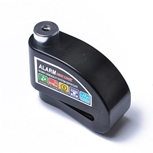 Eruditter Freno Freno de Bloqueo Candado Moto Roller Bicicleta Aluminio aleación Freno Candado con función de Alarma Negro