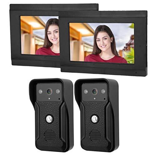Videoportero 7 pulgadas Wifi con cable Seguridad para el hogar(European regulations)