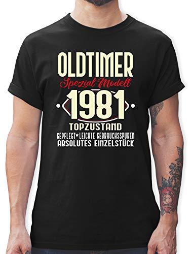 Geburtstag - Oldtimer Spezial Modell 19781-40. Geburtstag - 3XL - Schwarz - Shirt Herren zum 40. - L190 - Tshirt Herren und Männer T-Shirts