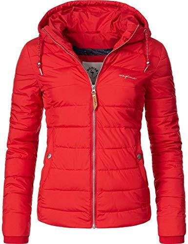 mazine Damen Winterjacke Steppjacke mit Kapuze Juneau Rot Gr. S