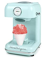 PARTY PLEASER: Easy way to make delicious, fluffy snow cones - making this perfect for birthday parties and other big events! NOSTALGIA SNOW CONE KITS: Unit works perfectly with all Nostalgia snow cone kits - try the Snow Cone Kit (SCK3), Snow Cone S...