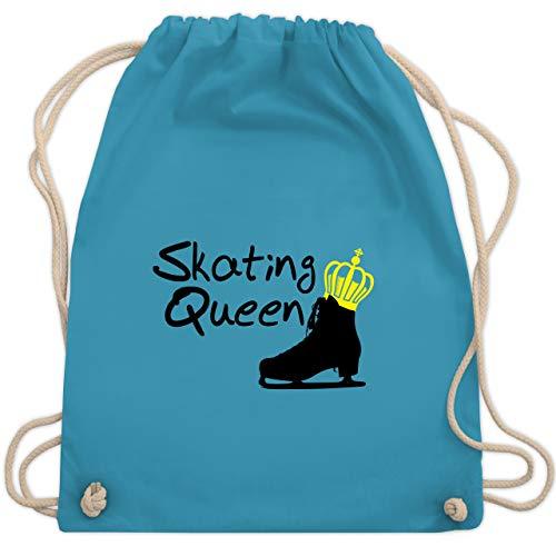 Shirtracer Wintersport - Skating Queen - Unisize - Hellblau - schlittschuh rucksack - WM110 - Turnbeutel und Stoffbeutel aus Baumwolle