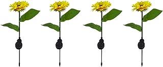 ASKLKD Lumière Solar Sunflower Light, LED Lampe à Gazon d' extérieur Écouto- étanche Paysage Éclairage Décoration Fête de ...