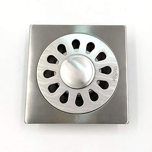 EXCLVEA Bodenablauf 304 Edelstahl Nichtrost Deodorant Spring Anti-Geruch Bodenablauf für Garten Outdoor Küche (Color : Silver, Size : ONE Size)