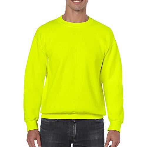 Gildan Herren Sweatshirt, Safety Green, S