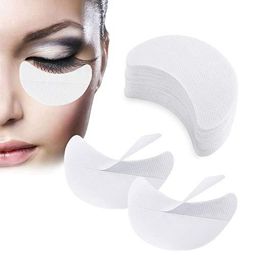 Lidschattenschild, 100 Stück Lidschatten Schablonen, Lidschatten Gel Pad Patches, Makeup Eye Pad Sticker zur Verhinderung von Wimpernverlängerung Tönung und Lippen