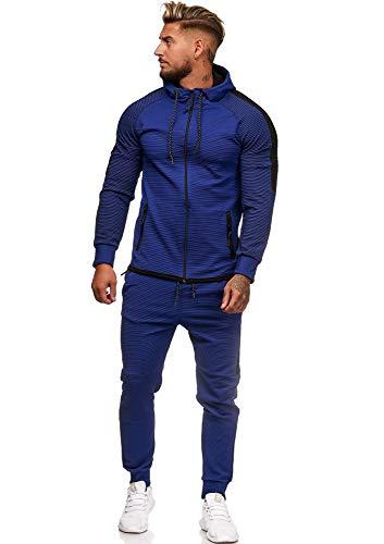 Code47 Herren Jogginganzug Sportanzug Modell 1121 Blau XS