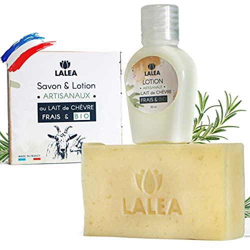 Savon masque & Lotion au Lait de chevre frais Bio, Exfoliant plus naturel que l Acide...