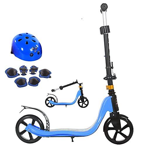 DODOBD Patinete 2 Ruedas para Adultos y Niños a Partir de 8 años - Patinete Plegable de Ruedas PU con Manillar Ajustable en Altura, City Scooters Roller,Carga 100 kg