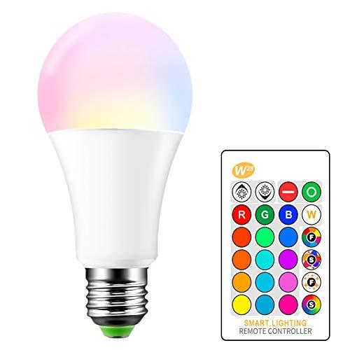 E27 RGB LED Lámpara que cambia de color 15W Bombillas de colores con control remoto AC 85-265V RGB + Blanco cálido 2700K Luz de escenario DJ Discoteca Club Fiesta Pub Hogar Bombilla LED