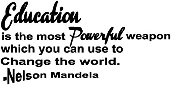 Education Can Change The World Quote Decor Home Stickers Vinyl Art Wall Decal