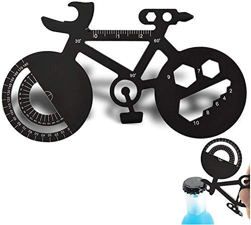 Multi Herramientas Tarjeta- Accesorios de multiherramientas Set de billetera de gadget Regalo para los hombres 16 en 1 kit de bolsillo para acampar al aire libre Ciclismo Montañismo