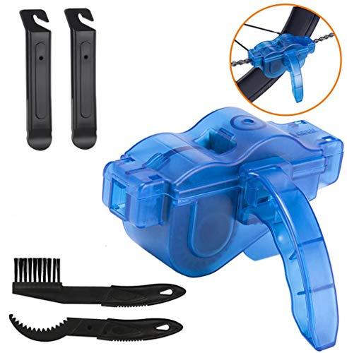 GUOJIN Reinigungsset für Fahrräder, Fahrrad Reinigungsset Bürste,Reinigungsbürste Fahrrad Set, für Fahrradkette/Reifen/Ritzel