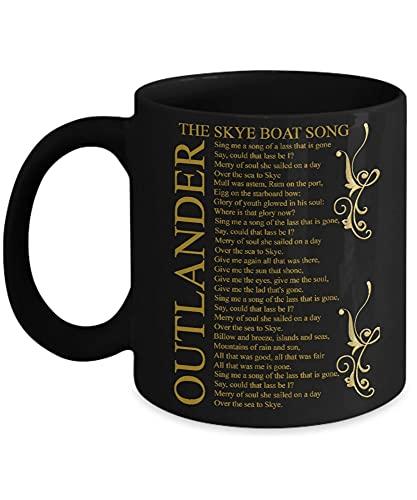 NA Outlander - The Skye Boat Song - Outlander - Taza de café, Divertido, Taza de té, Amante, día del Padre, Amigo EFWUJZ