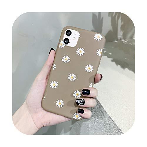 Funda de teléfono para iPhone 12 11 Pro X XR XS Max 5 5s 6 6s 7 8 Plus SE 2020 con diseño de margaritas
