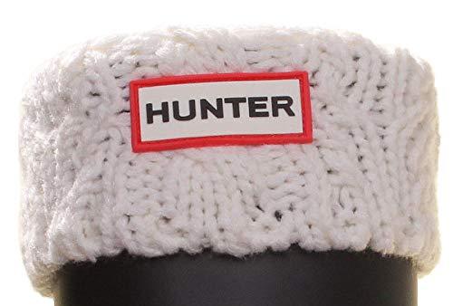 Hunter Kids Dualcable - Calcetines de tela para niños, Blanco (Blanco-a521), Medium