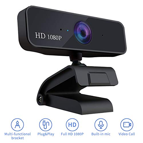 Guo duo Webcam 1080P HD Pro Stream Video Autofokus Streaming, Aufnahme, Conferencing Digitale Webkamera Video mit Mic USB Widescreen für PC, Laptops und Desktop (S-Autofokus)