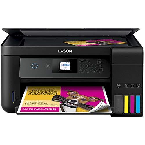 Multifuncional Epson Ecotank L4160 - Tanque de Tinta Colorida, Wi-Fi Direct, Frente e Verso Automático, Bivolt