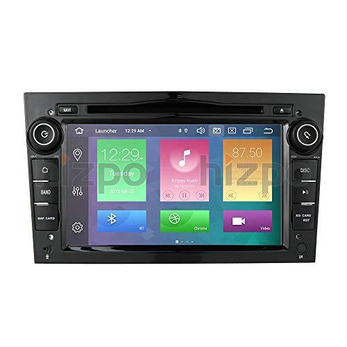 Android 10 Autoradio Lettore DVD Con GPS Navigazione Bluetooth Touchscreen Da 7 Pollici 4G RAM 64G ROM Controllo Volante Wifi 4G Adatto Per Opel Antara Vectra Crosa Vivaro Zafira Meriva (Nero)