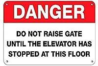 TISAGUER 危険エレベーターが停止するまでGATEを上げない