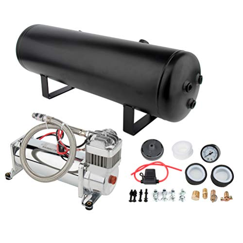 cciyu 12V 200 PSI Air Compressor 3 Gal Air Tank Replacement for Train Car Truck Boat RV